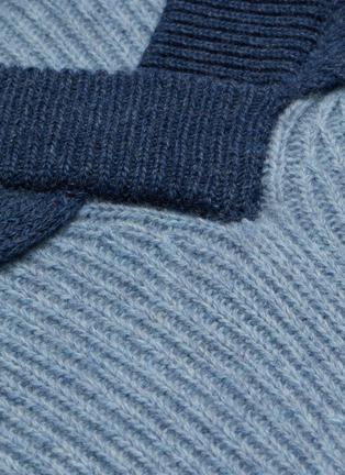 - JW ANDERSON - Cape detail V neck rib knit sweater