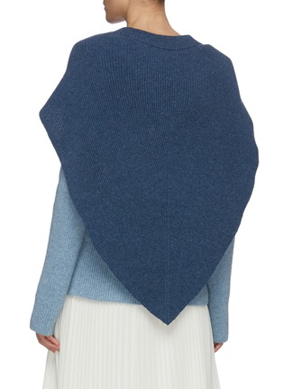 Back View - Click To Enlarge - JW ANDERSON - Cape detail V neck rib knit sweater