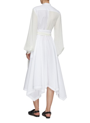 Back View - Click To Enlarge - JW ANDERSON - Panel wrap detail shirt dress