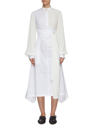 Main View - Click To Enlarge - JW ANDERSON - Panel wrap detail shirt dress