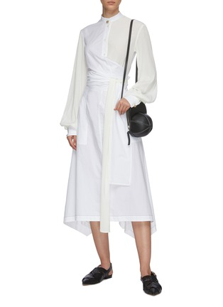 Figure View - Click To Enlarge - JW ANDERSON - Panel wrap detail shirt dress