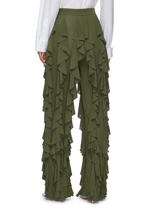 Back View - Click To Enlarge - JW ANDERSON - Fluid ruffle pants