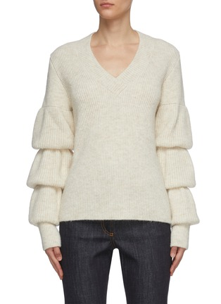 Main View - Click To Enlarge - JW ANDERSON - Bubble sleeve rib knit sweater