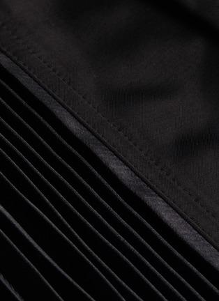 - JW ANDERSON - Pleat panel asymmetric skirt
