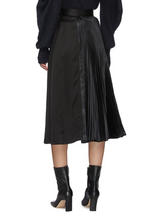 Back View - Click To Enlarge - JW ANDERSON - Pleat panel asymmetric skirt