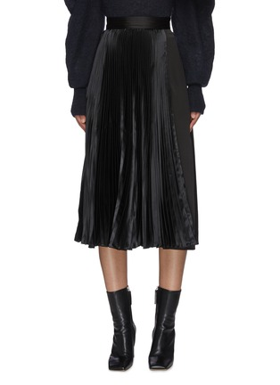 Main View - Click To Enlarge - JW ANDERSON - Pleat panel asymmetric skirt