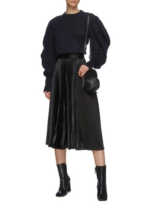 Figure View - Click To Enlarge - JW ANDERSON - Pleat panel asymmetric skirt