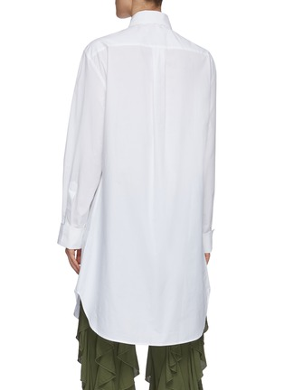 Back View - Click To Enlarge - JW ANDERSON - Bib collar cotton pique tunic