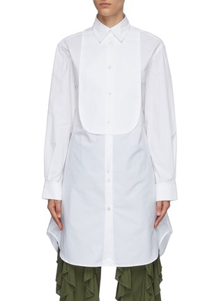 Main View - Click To Enlarge - JW ANDERSON - Bib collar cotton pique tunic