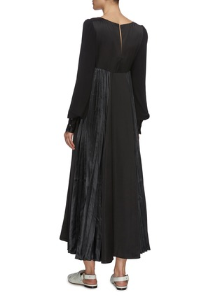 Back View - Click To Enlarge - JW ANDERSON - Tie front V neck dress