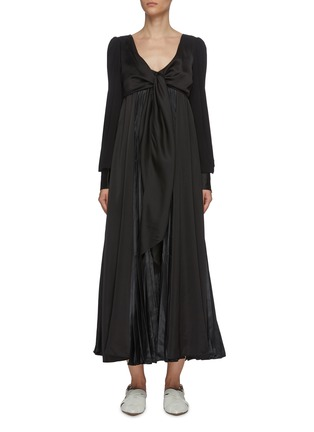Main View - Click To Enlarge - JW ANDERSON - Tie front V neck dress