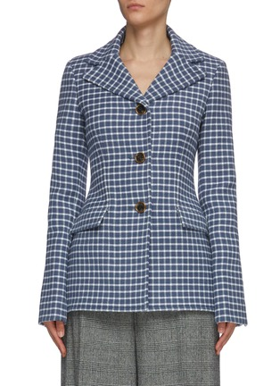 Main View - Click To Enlarge - JW ANDERSON - Fit waist check elongated blazer