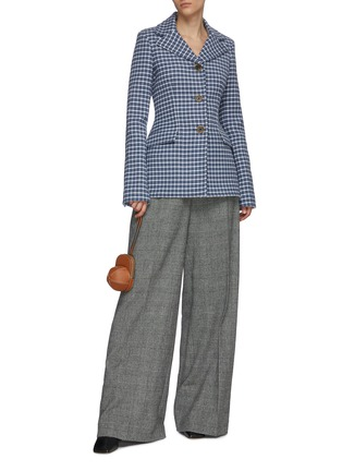 Figure View - Click To Enlarge - JW ANDERSON - Fit waist check elongated blazer