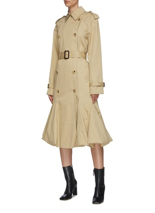 Detail View - Click To Enlarge - JW ANDERSON - Bubble hem cape hybrid trench coat