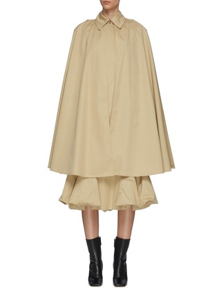Main View - Click To Enlarge - JW ANDERSON - Bubble hem cape hybrid trench coat