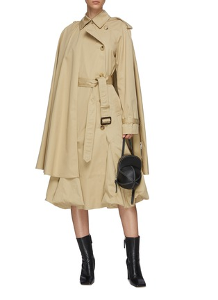 Figure View - Click To Enlarge - JW ANDERSON - Bubble hem cape hybrid trench coat