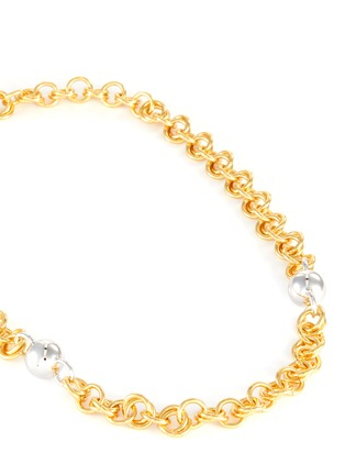 Detail View - Click To Enlarge - NÚMBERING - 18k gold and platinum plated chain necklace