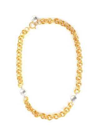 Main View - Click To Enlarge - NÚMBERING - 18k gold and platinum plated chain necklace