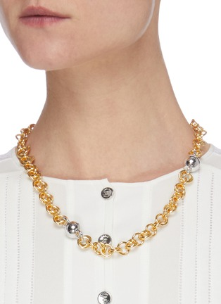Figure View - Click To Enlarge - NÚMBERING - 18k gold and platinum plated chain necklace