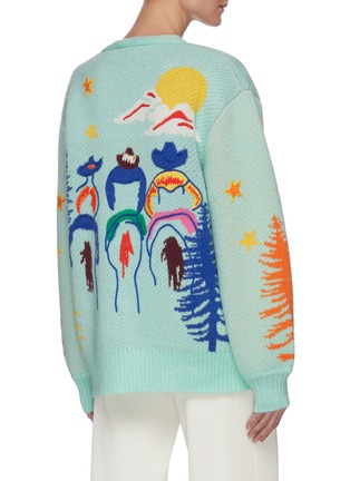 Back View - Click To Enlarge - MIRA MIKATI - Graphic embroidered knit cardigan