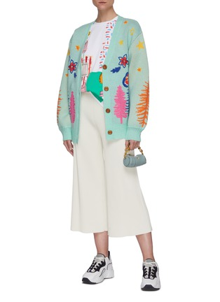 Figure View - Click To Enlarge - MIRA MIKATI - Graphic embroidered knit cardigan