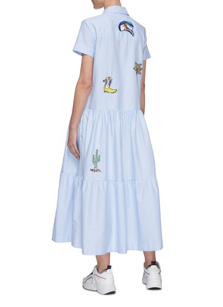 Back View - Click To Enlarge - MIRA MIKATI - Graphic embroidered shirtdress