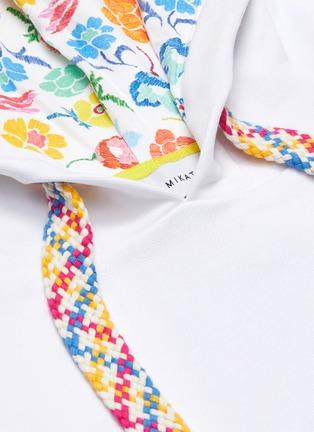 - MIRA MIKATI - Rainbow floral print hoodie