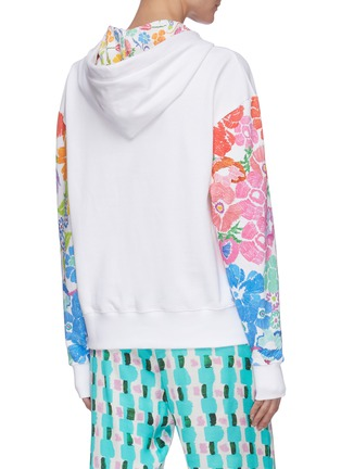 Back View - Click To Enlarge - MIRA MIKATI - Rainbow floral print hoodie