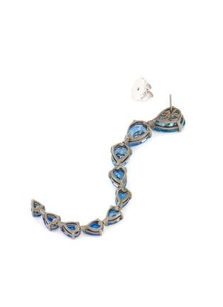 Detail View - Click To Enlarge - ANABELA CHAN - Aqua Nova' gemstone 18k white gold rhodium vermeil drop earrings