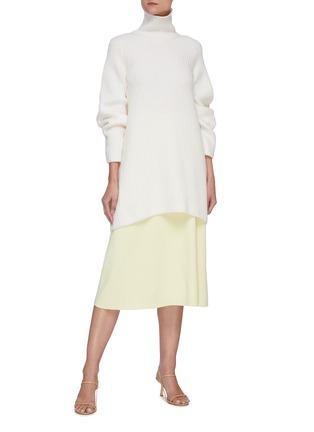 Figure View - Click To Enlarge - THE ROW - 'Araceli' high waist midi skirt