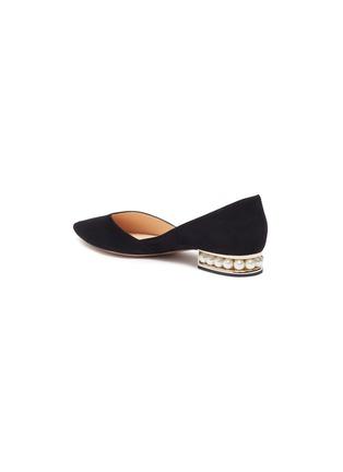 - NICHOLAS KIRKWOOD - Casiti' faux pearl heel suede D'orsay flats