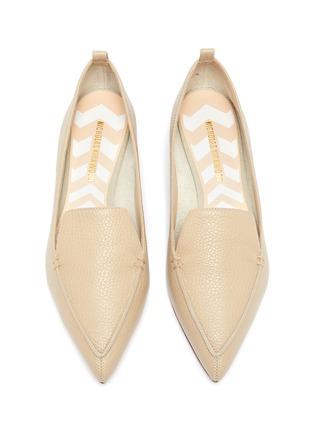 Detail View - Click To Enlarge - NICHOLAS KIRKWOOD - Beya' metallic heel point toe leather loafers