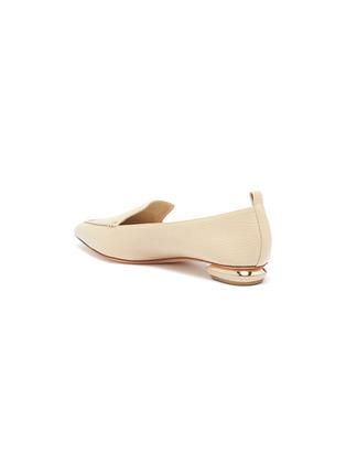 - NICHOLAS KIRKWOOD - Beya' metallic heel point toe leather loafers