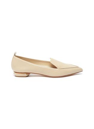 Main View - Click To Enlarge - NICHOLAS KIRKWOOD - Beya' metallic heel point toe leather loafers