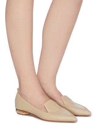 Figure View - Click To Enlarge - NICHOLAS KIRKWOOD - Beya' metallic heel point toe leather loafers