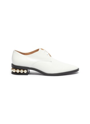 Main View - Click To Enlarge - NICHOLAS KIRKWOOD - 'Casati' lace up leather Derby shoes
