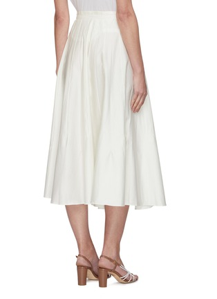 Back View - Click To Enlarge - CULT GAIA - Sistra paperbag waist pleated midi skirt