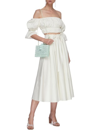Figure View - Click To Enlarge - CULT GAIA - Sistra paperbag waist pleated midi skirt