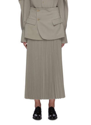 Main View - Click To Enlarge - THE KEIJI - Blazer panel pleated skirt