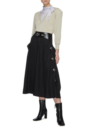 Figure View - Click To Enlarge - TOGA ARCHIVES - Belted midi skirt