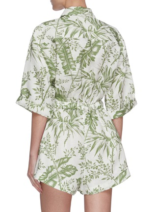 Back View - Click To Enlarge - ZIMMERMANN - 'Empire' botanical print utility playsuit