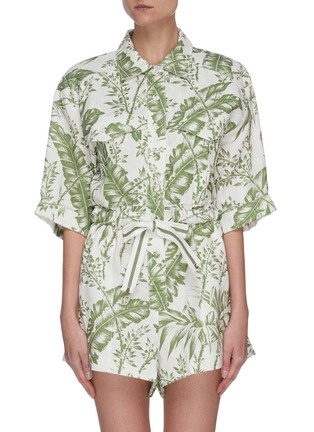 Main View - Click To Enlarge - ZIMMERMANN - 'Empire' botanical print utility playsuit