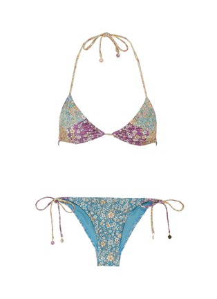 Main View - Click To Enlarge - ZIMMERMANN - 'Carnaby' colourblock floral print bikini