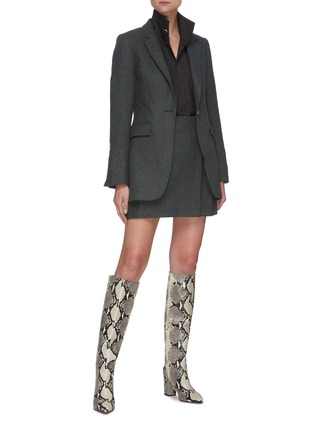 Figure View - Click To Enlarge - REMAIN - Tyron' micro check wool blazer