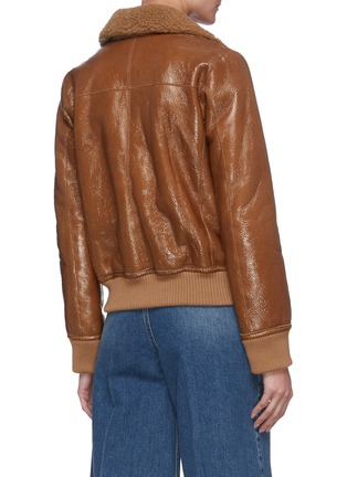Back View - Click To Enlarge - REMAIN - 'Perla' shearling leather jacket