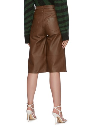 Back View - Click To Enlarge - REMAIN - 'Bocca' leather culotte shorts