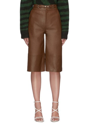Main View - Click To Enlarge - REMAIN - 'Bocca' leather culotte shorts