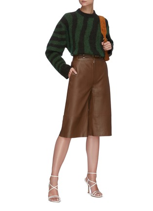 Figure View - Click To Enlarge - REMAIN - 'Bocca' leather culotte shorts