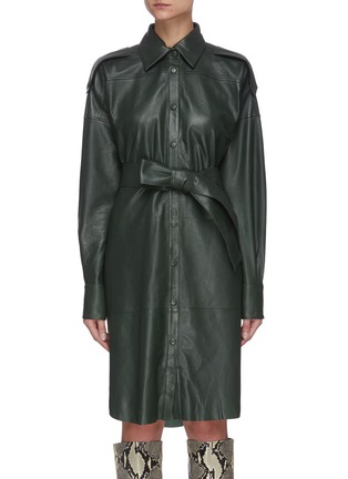 Main View - Click To Enlarge - REMAIN - 'Lavare' belted leather dress