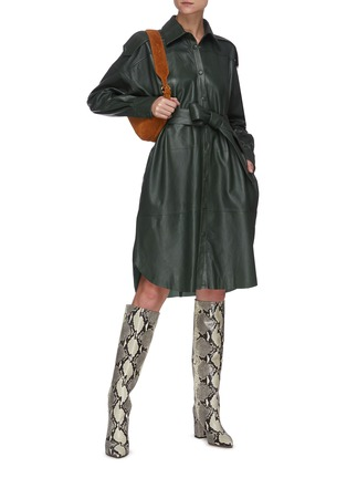 Figure View - Click To Enlarge - REMAIN - 'Lavare' belted leather dress